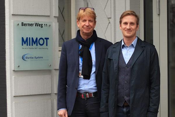 CEO Carl Otto Künnecke und Niklas Künnecke, Leiter F&E